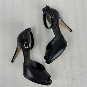 Nine West 'Liscor' Black Peep Toe Heels